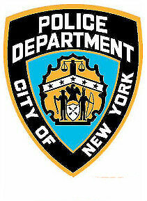 REFLECTIVE NYPD NEW YORK POLICE DEPARTMENT DECALFor Auto Car/Bumper/Window Decal Sticker Decals DIY Decor CT2321