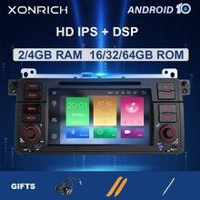 Xonrich AutoRadio 1 الدين أندرويد 10 مشغل أسطوانات للسيارة لاعب لسيارات BMW E46 الوسائط المتعددة M3 318/320/325/330/335 Rover75 كوبيه لتحديد المواقع والملاحة 4GB