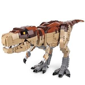 Image 4 - Создатель Юрского периода парк Rampage тираннозавр рекс набор совместим с 75936 строительные блоки кирпичи игрушка Рождественский подарок