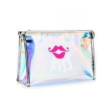 Bag Lipstick Handbag Magic-Color Women Cosmetic-Bag Laser-Makeup-Bag Transparent Wholesale-Price