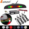 Eunavi 1 Bộ Tự Động Parktronic Led, Cảm Biến Bộ Màn Hình Hiển Thị 4 Cảm Biến Cho Tất Cả Các Xe Ô Tô Ngược Hỗ Trợ Sạc Dự Phòng Radar Màn Hình hệ Thống
