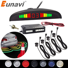 Eunavi Kit de capteurs de stationnement Led pour voiture, Kit Radar, affichage de 4 capteurs pour toutes les voitures, Assistance de recul