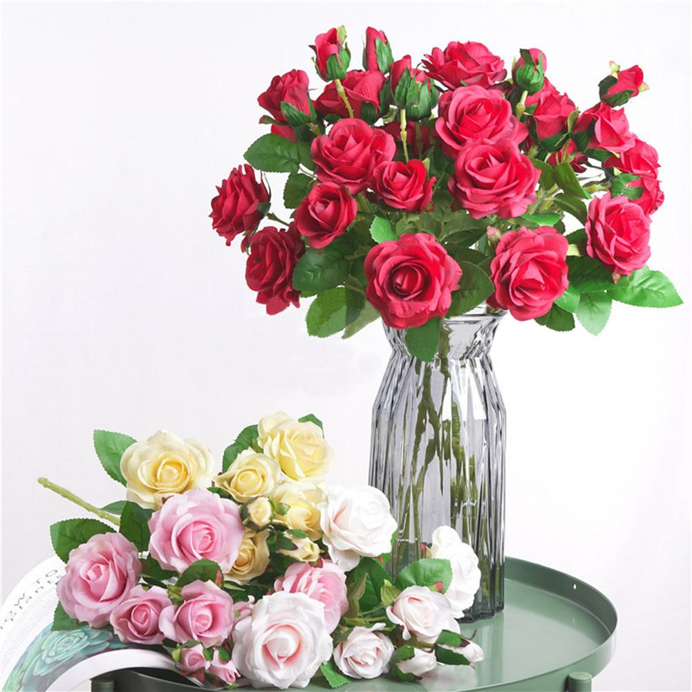 58cm 1Pc clothes no-fading Artificial Flower Garden DIY Party Home Wedding Holiday Stage Craft Decor Vivid Color