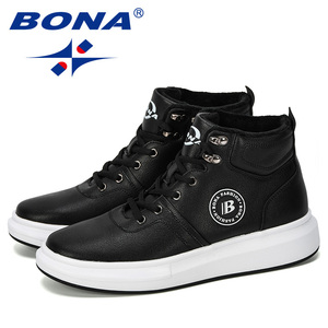 Image 5 - BONA 2019 New Designer Outdoor Sneaker Men Lace Up Casual Footwear Man Fashionable Comfortable Vulcanize Shoes Male High  Top