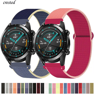 20mm/22mm Huawei watch GT-2-2e-pro Strap for Samsung Gear S3 Frontier Nylon bracelet Galaxy Watch 3 45mm/46mm/42mm/active 2 band