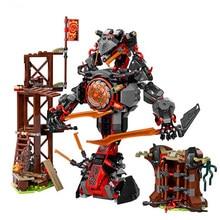 734 pçs 10583 mini figuras conjunto compatível dawn of iron doom 70626 blocos de construção brinquedos para crianças bloco tamanho