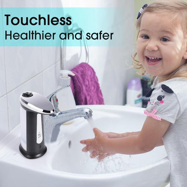 400Ml Automatic Liquid Soap Dispenser Automatic Foam Soap Dispenser Touchless IR Infrared Sanitizer Dispensador 5