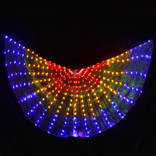 Led-Light Wings Belly-Dance-Costumes Stage-Performance Colourful Women Isis 360-Degree