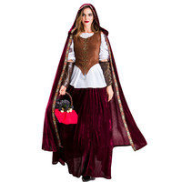 New Style Adult Halloween Character Cosplay Clothes Character Play Gothic Style Wine Mantle Little Red Riding Hood