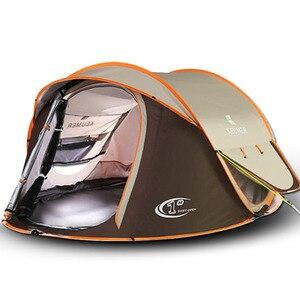 Image 1 - Tente dextérieur, lancement automatique, étanche, étanche, camping, randonnée, grande famille, quatre saisons, ventes directes dusine