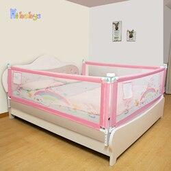 Детский защитный барьер для кровати регулируемое ограждение для детской безопасности ограждение для кроватей складной детский манеж защи...