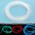1PC PMMA 1M Seite Leuchten Glasfaser Kabel 1,5mm/2mm/3mm Durchmesser für auto LED Lichter Helle Hause DIY Licht dekoration