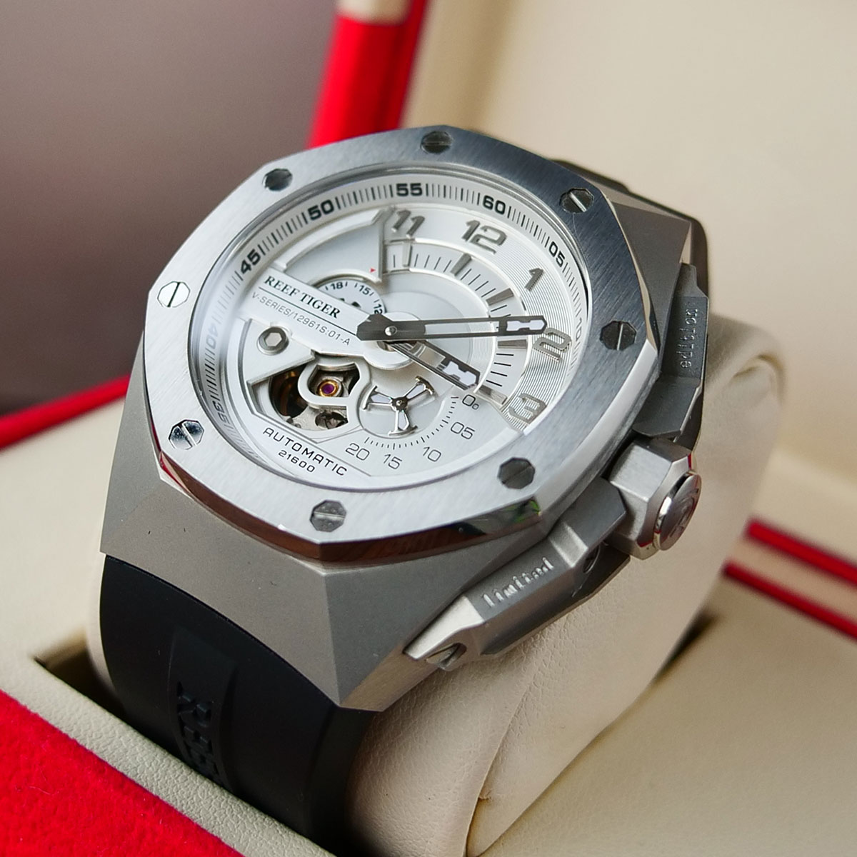 Reef Tiger/RT Top Brand Luxury  Sport Automatic Mechanical Men Watch Waterproof Relogio Masculino RGA92S7 3