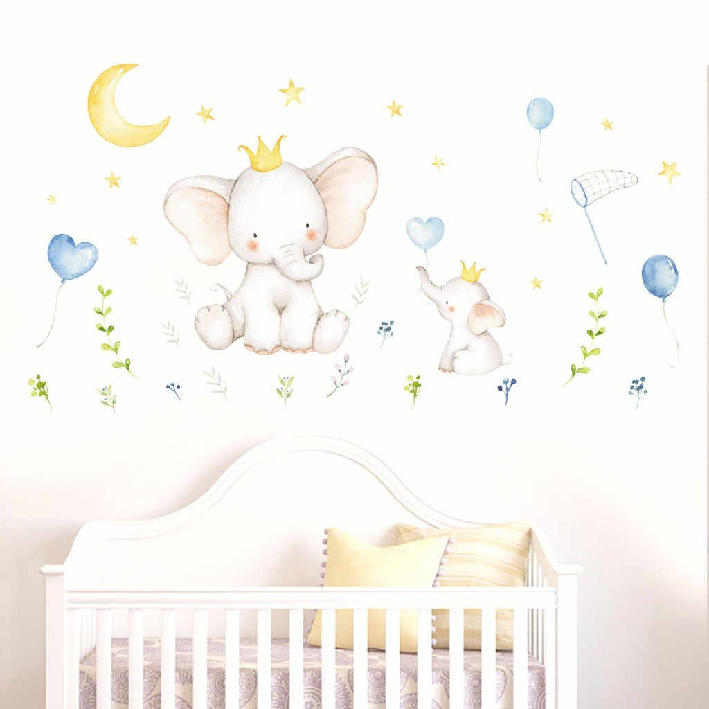 Настенные Стикеры для детской комнаты милые животные слон кролик виниловые настенные наклейки для детской комнаты Настенные украшения обои стикер