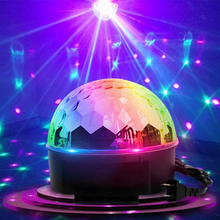 Magic Ball Stage Lights DJ Show Party Lighting Disco Bar Xmas RGB 9 lighting Color Laser Spotlights strobe Voice Control Sound 80 patterns red green laser show system blue led disco party magic ball dance lights stage dj lighting with remote sound control