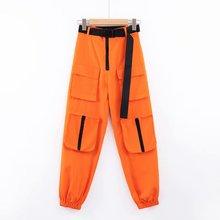 Casual cargo pants women baggy trousers casual high waist jo