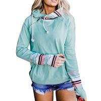 Frauen Mode Lässig Hoodie Long Sleeve Zipper Vintage Lose Elastische Herbst Top für Streetwear Alltagskleidung