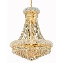 Lámpara de araña de cristal francés con diseño de Imperio Dorado, candelabros cromados, modernos, envío gratis