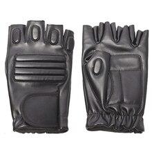 Мужские спортивные перчатки для занятий спортом на открытом воздухе, кожаные черные перчатки для велоспорта