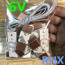 50 Cái/lô Đa Năng 6V LED Hạt Đèn Với Ống Kính Quang Học Lọc Cho Tivi Sửa Chữa 100% Mới