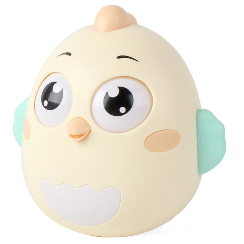 Kids Tumbler Teether New And Beautiful Patterns Fashionable Roly-poly Rattle Cute Chick Doll Toys Baby 0-12 Months Toys