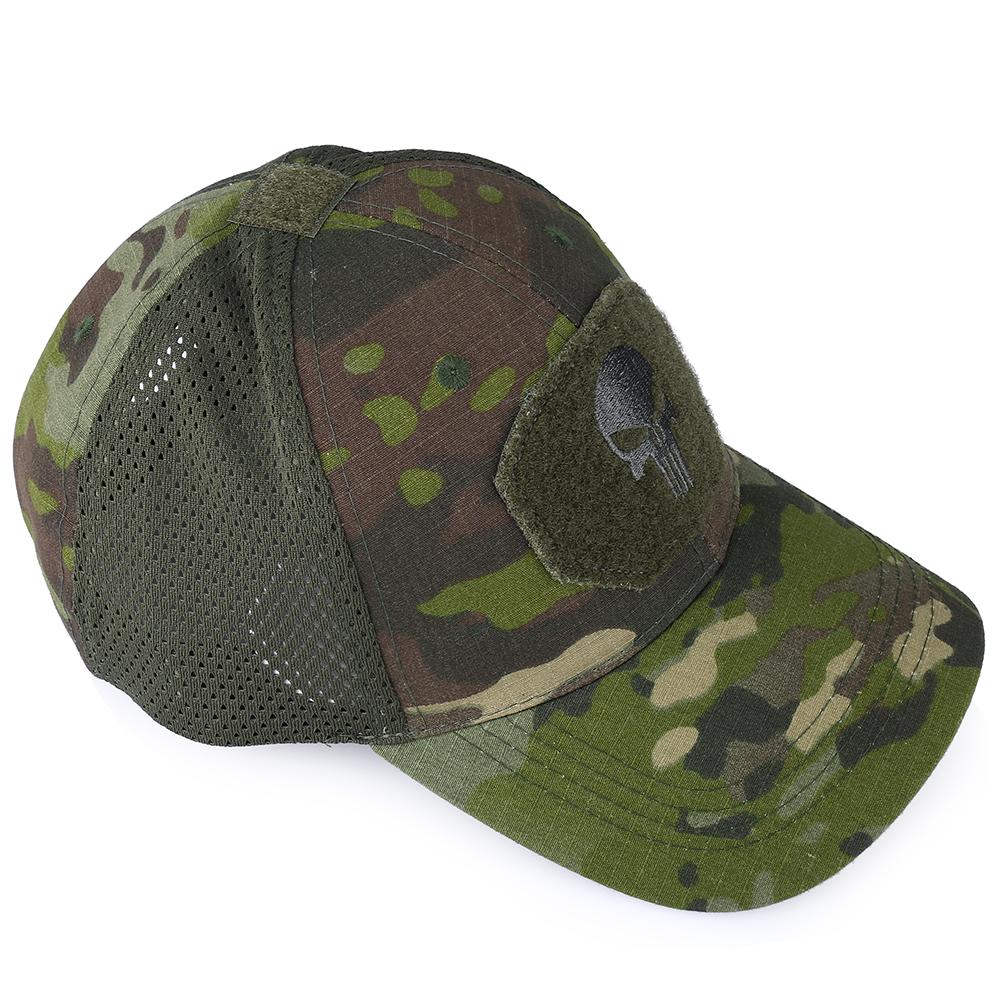 Skull Tactical Military Airsoft Cap Adjustable Breathable Sun Visor Trucker Hat Mesh Hunting Hiking Baseball Skeleton Snapback 41