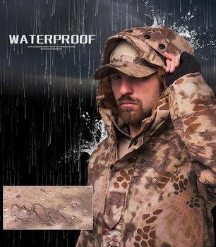 HAN WILD Outdoor Jackets Hiking Jacket Men Fleece Camouflage Hunting Clothes Men Tactical Military Uniform Windproof Windbreaker 5