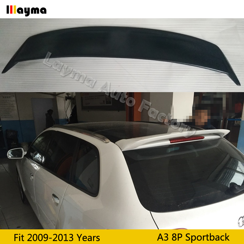 Oettinge style Fiber glass Roof wing spoiler For AUDI A3 8P Sportback 2009 2010 2011 2012 year car roof spoiler not fit S3 model|Spoilers & Wings| |  - title=