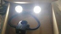 Especial Ajustável Microscópio LEVOU Fonte de Luz Fonte de Luz do Anel Microscópio Estereoscópico Único Cilindro Duplo Lateral De Fibra de Luz