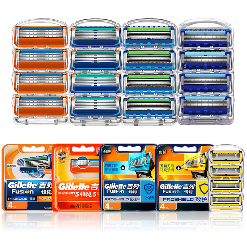 Replaceable blades Fit Gillette Fusion 5 Proglide Proshield Safety razor blade Shaving cassettes 5 layers stainless steel jilet