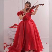 Бальное платье из органзы с оборками в пол 15 лет