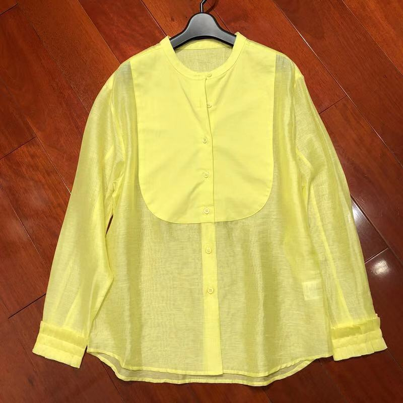 Shirts For Women The Design Feels 2020 New Spring Perspective Blouse Shirt Long Sleeve Fashion