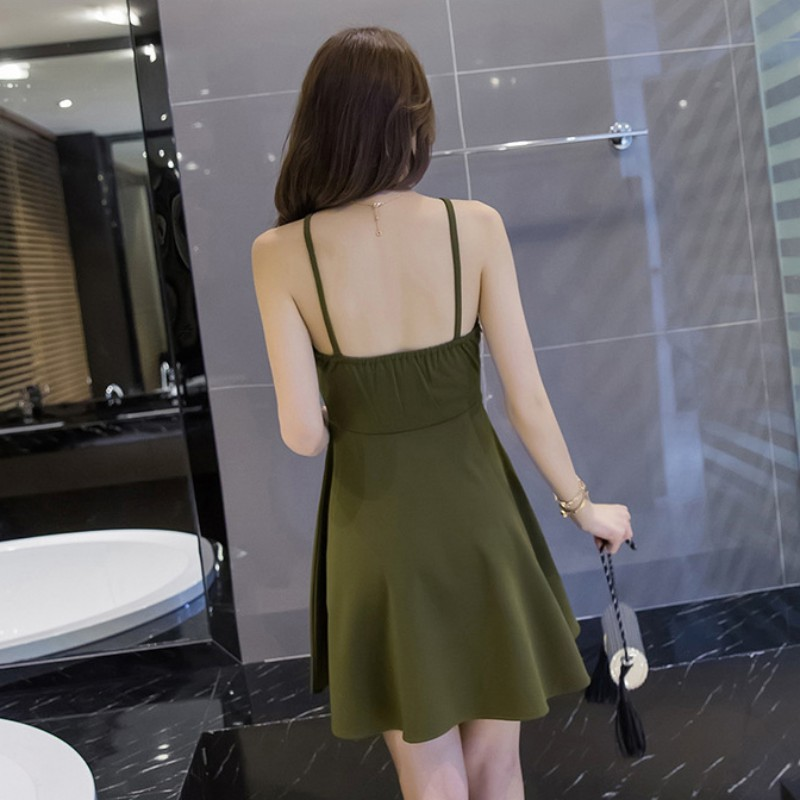 <font><b>Halter</b></font> Mini <font><b>Dress</b></font> <font><b>Sexy</b></font> Korean <font><b>Style</b></font> Sleeveless Backless Nightclub Black Bodycon <font><b>Dresses</b></font> image