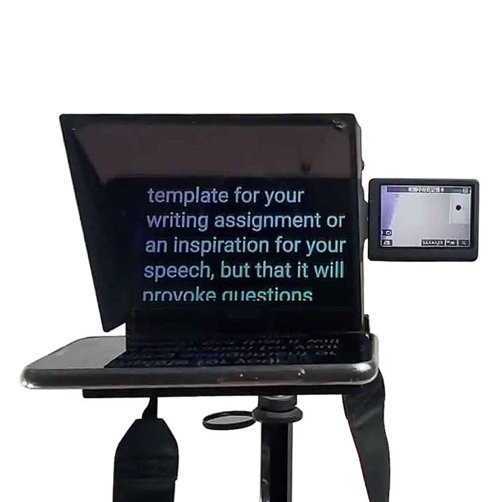 TZT Mini téléprompteur Portable inscripteur Mobile téléprompteur vidéo d'artefact avec télécommande - 2