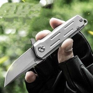 Image 2 - KESIWO couteaux pliants mini D2, petit anneau à clé, couteau de poche de survie, à clapet, sauvetage multi pêche, EDC outils à main