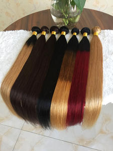 Straight-Hair Human-Weave-Bundles Ombre Hair Ali Coco Non-Remy Brazilian 8-30--Inch 1b/99j