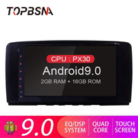 TOPBSNA Android 9.0 Car DVD Player For Mercedes Benz R Class W251 R280 R300 R320 R350 GPS Navi 2 Din Car Radio Stereo DSP Wifi