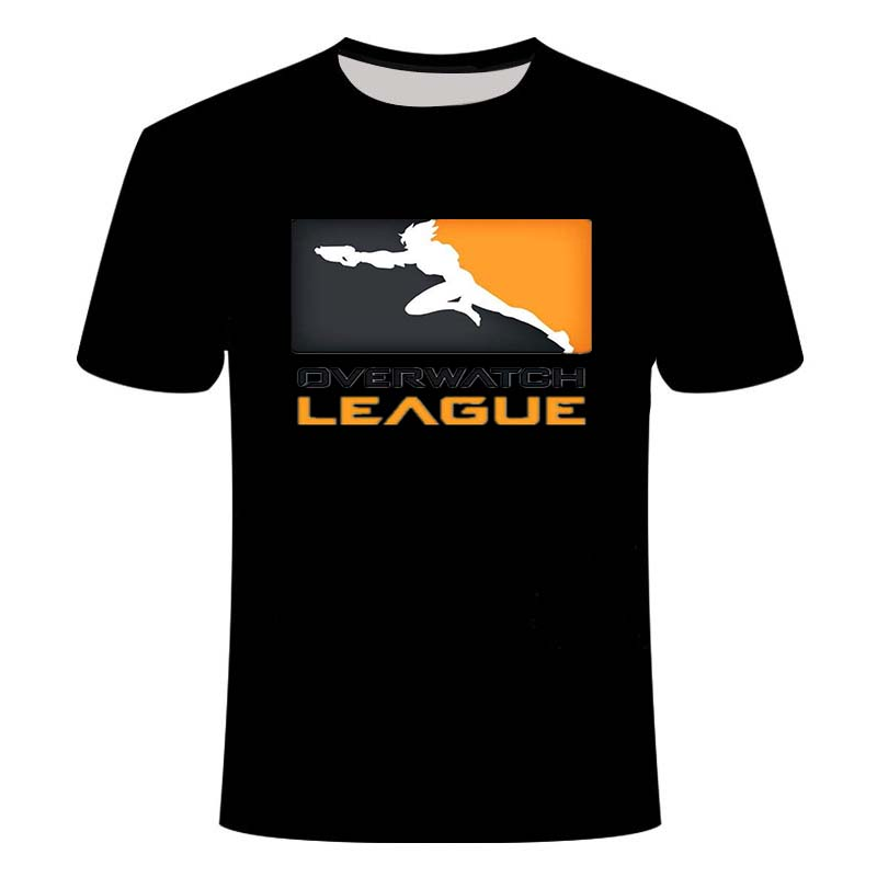 2021Overwatch Game Logo Gamer Gaming Tshirt 3D Over Short-Sleeve T Shirts Gaming Top Blizzard Overwatch Video Game Characters 3
