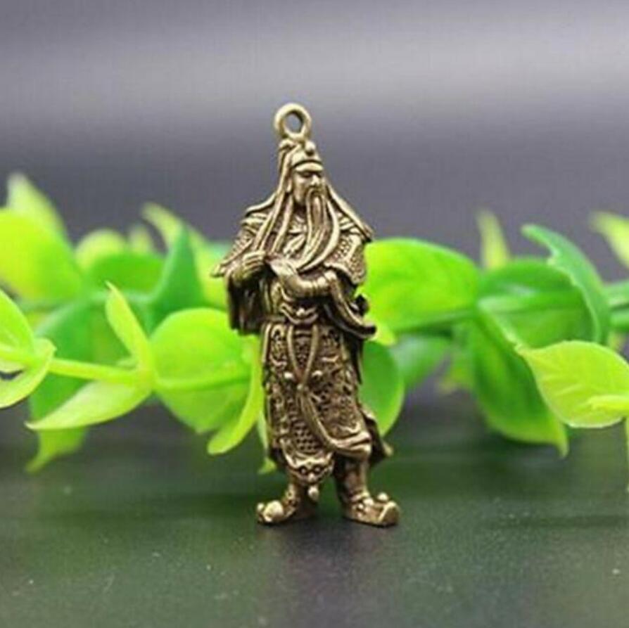 China/'s archaize pure brass guan gong Buddha small statue pendant
