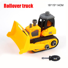 Hehepopo Big Rollover Truck Assembly Block Toy Cars 18cm Toy Truck Plastic Construction Vehicles for Children > 3 Years Old