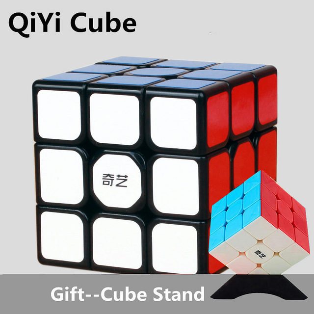 QiYi Sail W 3x3 Magic Cubes Stickerless Warrior S Professional Speed Cube Puzzles Cubes Montessori Educational Toy For kid 2