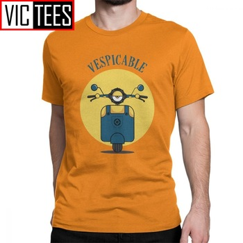 Vespicable Vespa Hombre Camisetas Camiseta Hombre moda 100% algodón manga corta Camiseta cuello redondo Camiseta ropa de talla grande