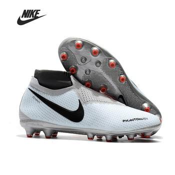 High Ankle Soccer Shoe Nike Phantom VSN Elite DF AG Men Football Boots Man Football Shoes Botas hot selling phantom vsn 2 elite df fg football boots mens soccer shoes sales