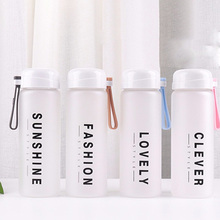 Get more info on the 2019 new 400ML fashion English matte plastic water dispenser student outdoor travel portable leak-proof drinking water bottle