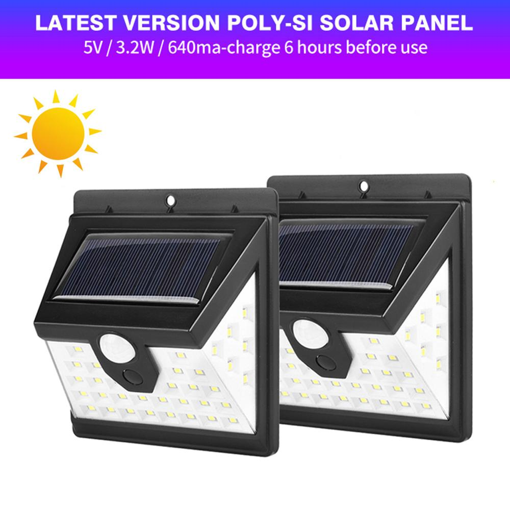 40 LED Garden Solar Light Body Induction Wall Lamp Heat-resisting High Brightness Waterproof PIR Motion Sensor Street Light