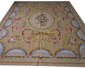Finest French Aubusson Rug European Decor Luxury Pure Silk Made 972gc147aubyg30|Carpet| |  -