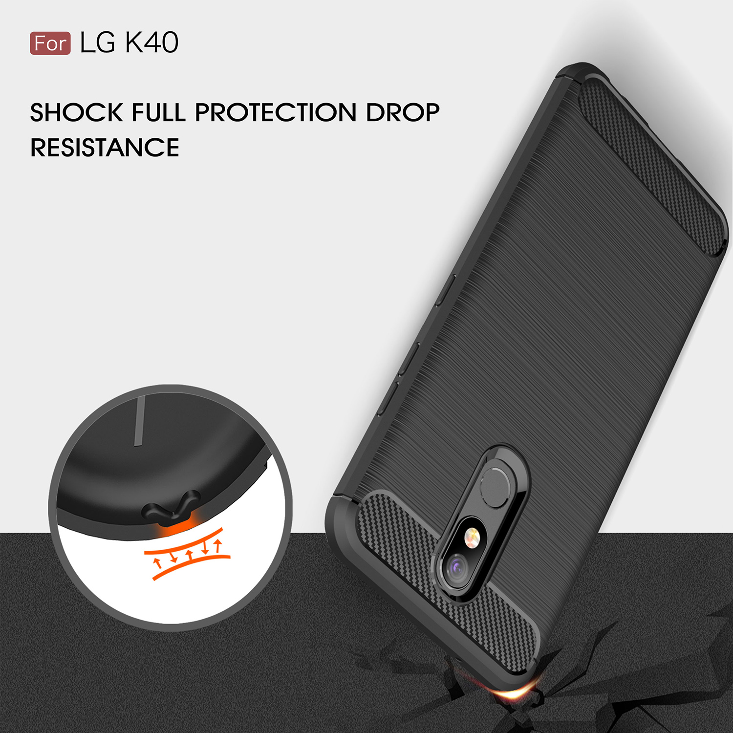 Carbon Fiber Cover 360 Full Protection Phone Case For LG G6 Q6 Q7 V30 V30S K10 K8 2018 G7 Q Stylo V40 Plus Pro Shockproof Cover