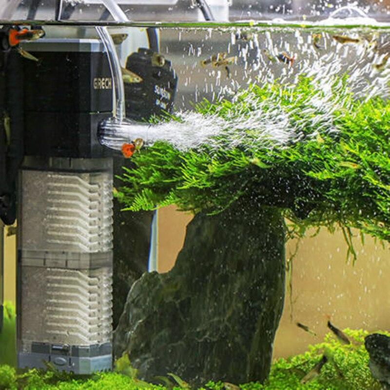 Super 4 In 1 Sunsun Internal Aquarium Filter Pump Fish Tank Multifunction Wave Maker Water Circulation Air Pump Filter 1