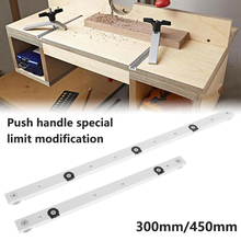 Uniwersalna jazda kamerowa t-tracks ze stopu T prowadnica ukośna i ukośna szyna prowadnicza pilarka stołowa wskaźnik kątowy pręt dla majsterkowiczów narzędzie do drewna tanie tanio NONE CN (pochodzenie) 100007189 Miter bar and T-track aluminum alloy 300MM 450MM about 9 5 mm 0 374 inches about 19 mm 0 748 inches