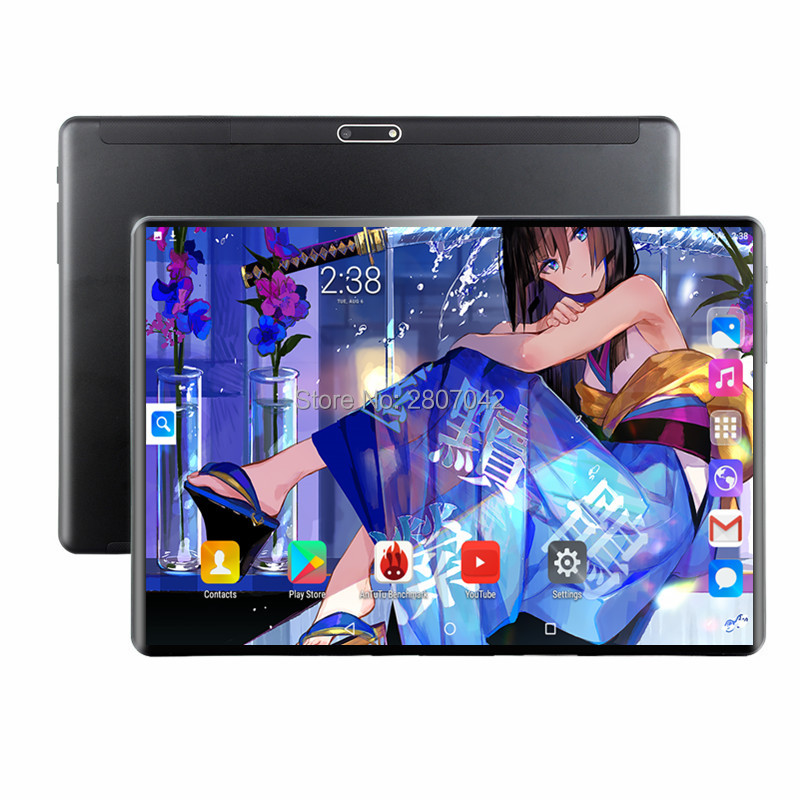2019  2.5D IPS Tablet PC 4G Android 9.0 Octa Core Google Play The Tablets 6GB RAM 64GB ROM WiFi GPS 10' Tablet Steel Screen 10